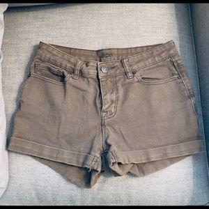 BDG Olive Green Denim Shorts